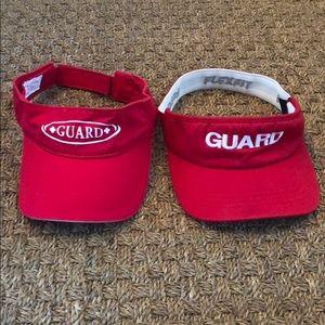 Red Lifeguard Visors